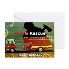 Firefighter Birthday Greeting Card