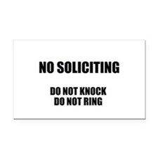 NO SOLICITING GO AWAY Rectangle Car Magnet