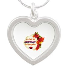 Armenian Boyfriend designs Silver Heart Necklace