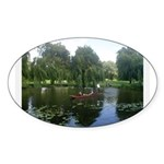 Cambridge Painting Oval Sticker