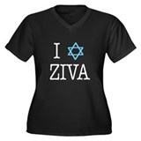 I heart Ziva of NCIS Women's Plus Size V-Neck Dark