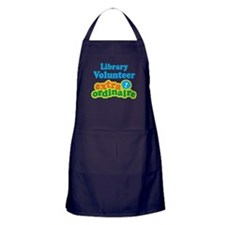Library Volunteer Extraordinaire Apron (dark)