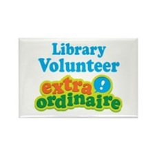 Library Volunteer Extraordinaire Rectangle Magnet