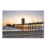 HDR Huntington Beach Pier at Sunset Postcards (Pac