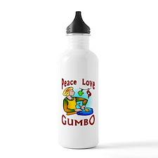 Peace Love Gumbo Water Bottle