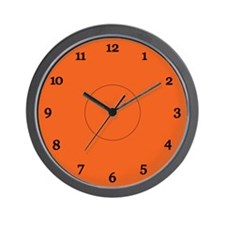 Halloween Orange Wall Clock
