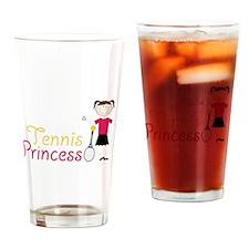Tennis Princess Drinking Glass