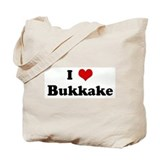 I Love Bukkake Tote Bag