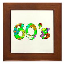 60's Flowers Framed Tile