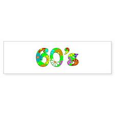 60's Flowers Bumper Sticker