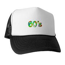 60's Flowers Trucker Hat