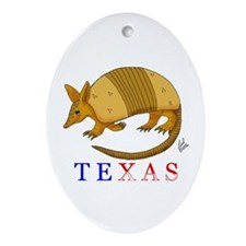Texas Oval Ornament