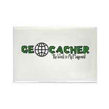 Geocacher...The World is My Playground Rectangle M