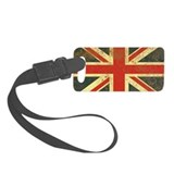 Vintage Union Jack Small Luggage Tag