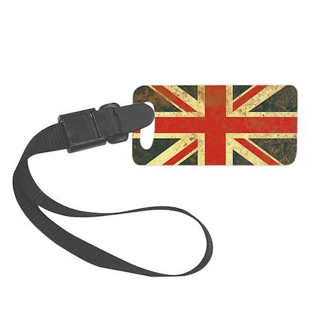 Vintage Union Jack Small Luggage Tag