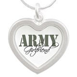 Army Girlfriend Silver Heart Necklace