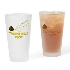 Tractor Pulls Rock Drinking Glass