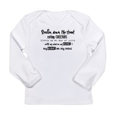 Mind On My Mommy Long Sleeve Infant T-Shirt