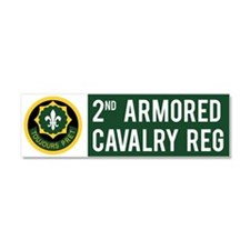 2nd Armored Cavalry Car Magnet 10 x 3