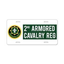 2nd Armored Cavalry Aluminum License Plate