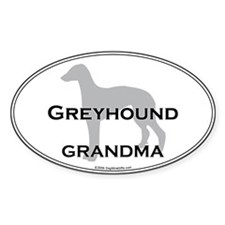 Greyhound GRANDMA Oval Bumper Stickers