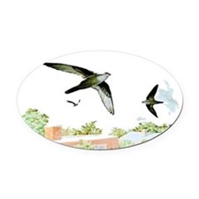 Chimney Swift Oval Car Magnet
