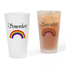 Cute Somewhere rainbow Drinking Glass