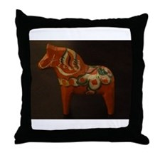 Dala Horse Foundation Throw Pillow