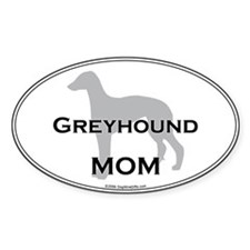 Greyhound MOM Oval Decal