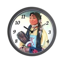 Navajo Girl - Wall Clock