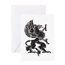Griffin (Grunge Texture) Greeting Card