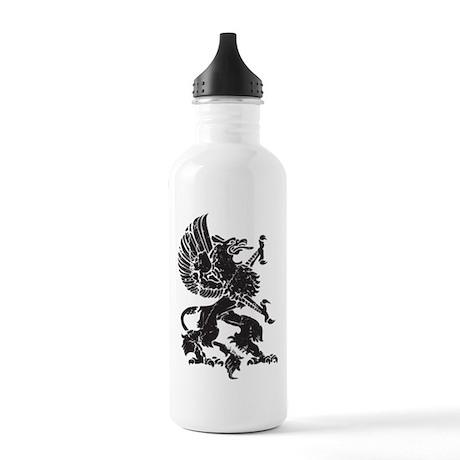 Griffin (Grunge Texture) Stainless Water Bottle 1.