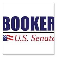 "Cory Booker for U.S. Senate Square Car Magnet 3"" x"