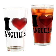 I Heart Anguilla Drinking Glass