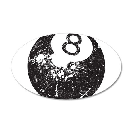 8 Ball 35x21 Oval Wall Decal