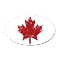 Maple Leaf 20x12 Oval Wall Decal