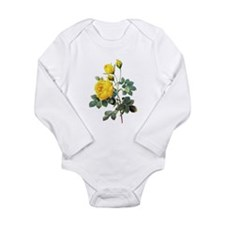 Pierre-Joseph Redoute Rose Long Sleeve Infant Body