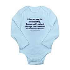 Liberals vs Conservatives Long Sleeve Infant Bodys