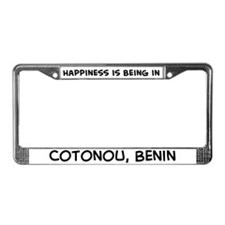 Happiness is Cotonou License Plate Frame
