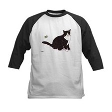 Tux Cat Kids Baseball Jersey