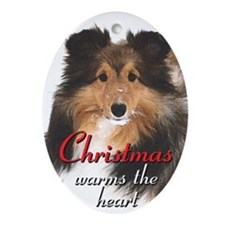 Christmas Sheltie Ornament