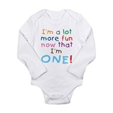 More Fun 1st Birthday First Infant Creeper Body Su