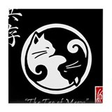 Cute Ying yang Tile Coaster