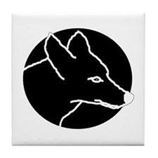 Black Coyote Tile Coaster