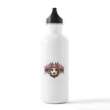 vector soccer ball Water Bottle