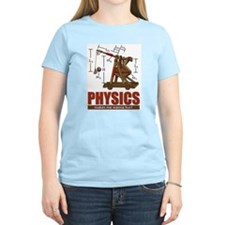 Physics Trebuchet Catapult Women's Pink T-Shirt
