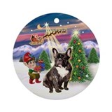Santa's Take Off &amp;amp; French BD (br) Ornament (Ro
