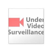 Under Video Surveillance Rectangle Sticker