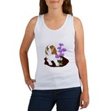 Saint Puppy With Daisies Women's Tank Top
