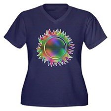 Even Sunnier Women's Plus Size V-Neck Dark T-Shirt